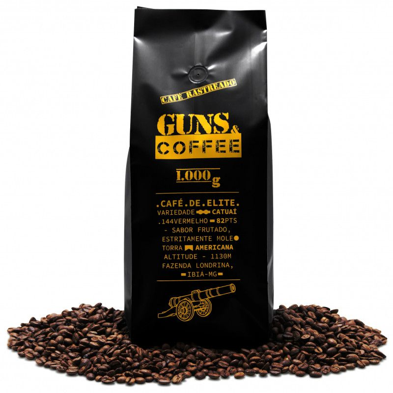 Café de Elite Guns e Coffee em Grãos 1000g