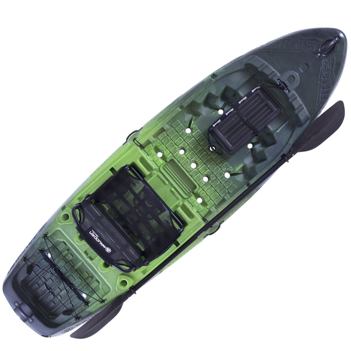 Caiaque Brudden Hunter Fishing 285 Verde/preto + Cooler Verde 15LT