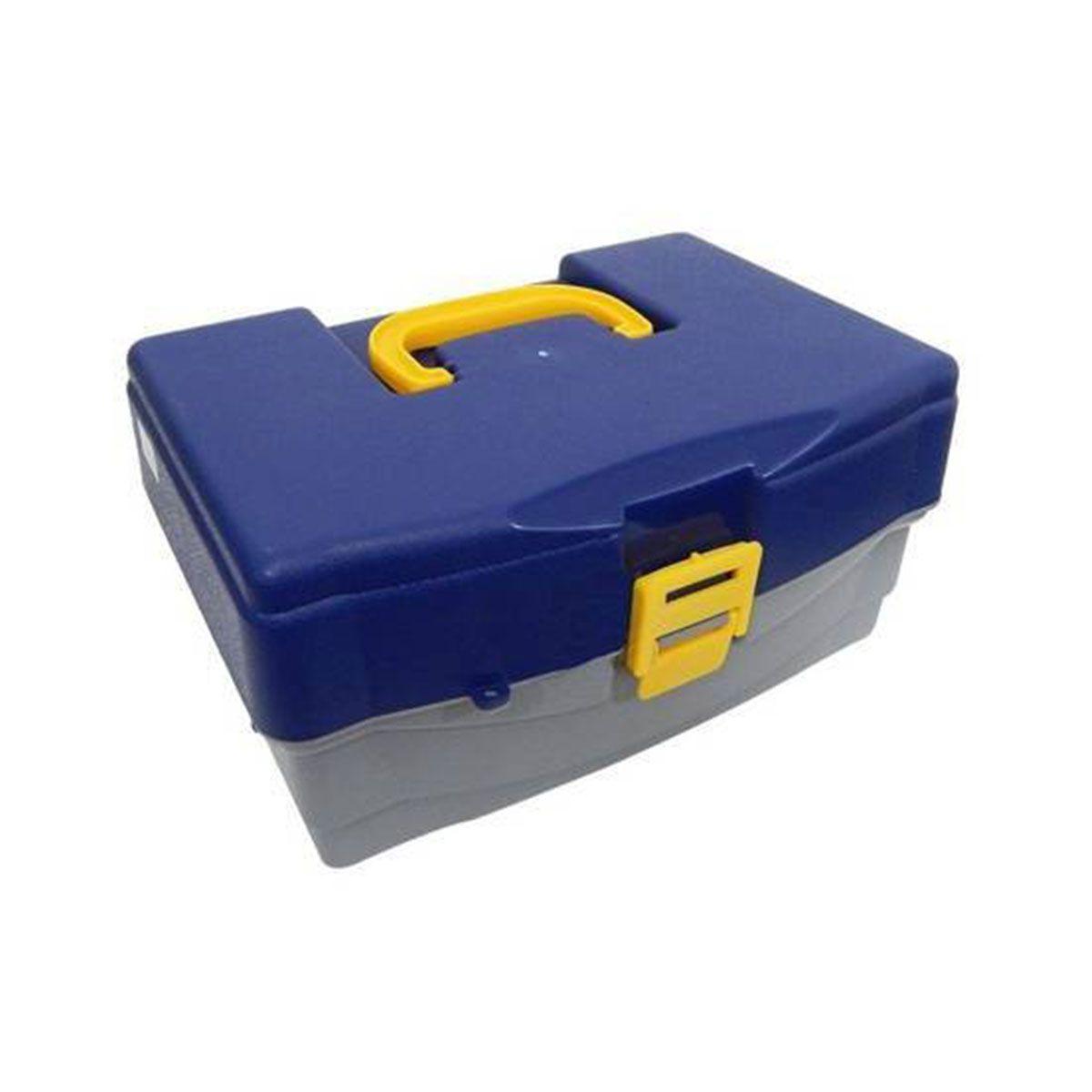 Caixa de Pesca Hi 4 Bandeja Azul e Amarelo