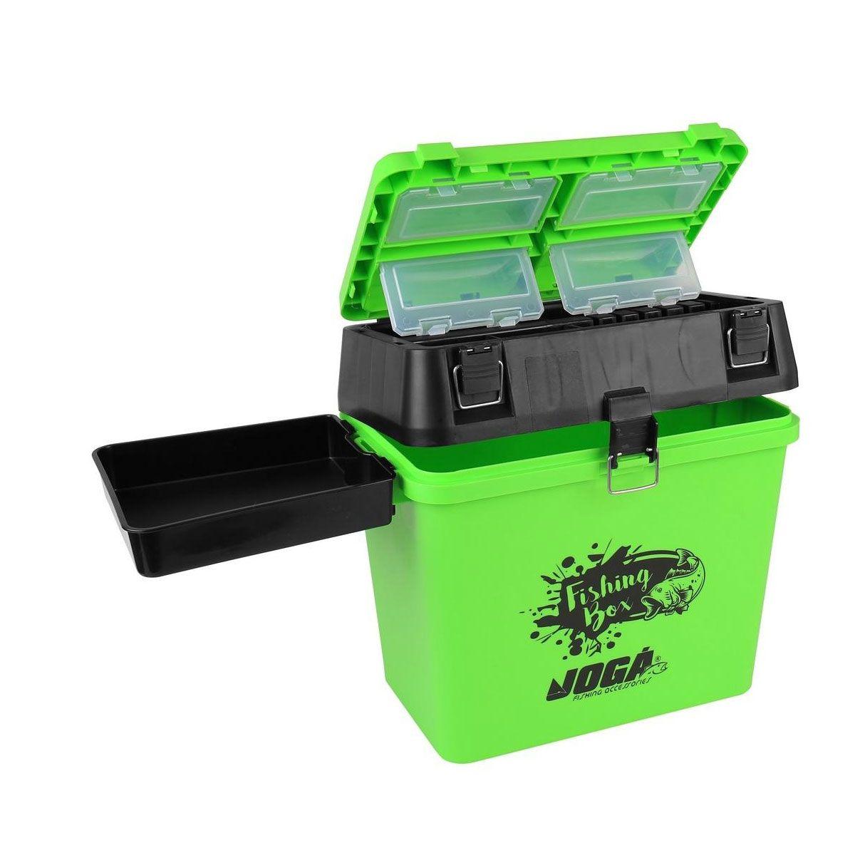 Caixa de Pesca Mochila Fishing Box Jogá Verde e Preto