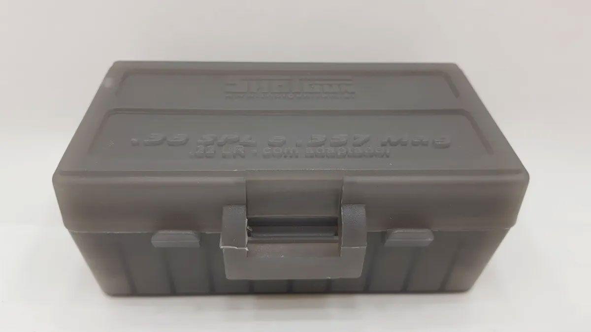 Caixa Shotgun para 50 Cartuchos Calibre 38/357/22 Fume