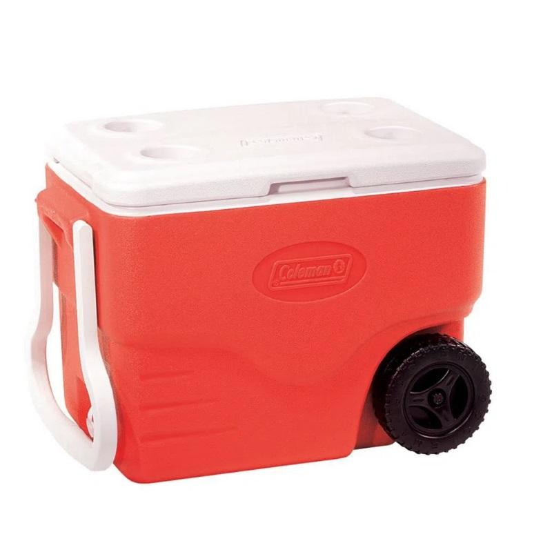 Caixa Térmica com Rodas Coleman 38 Litros - Vermelho