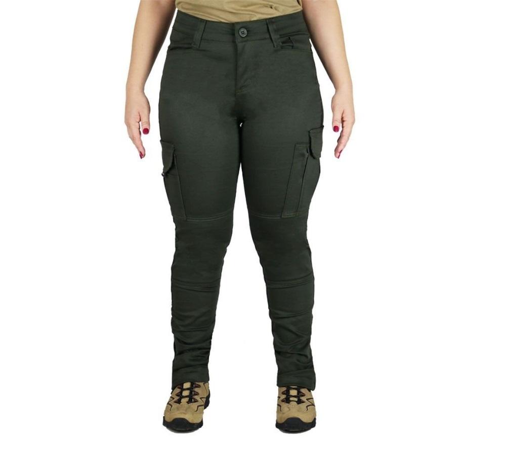 Calça Bélica Tática Militar Feminina Fem-Tac Verde