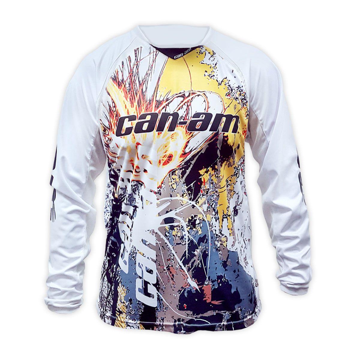 Camisa Can-Am X-Race Masculina Branca