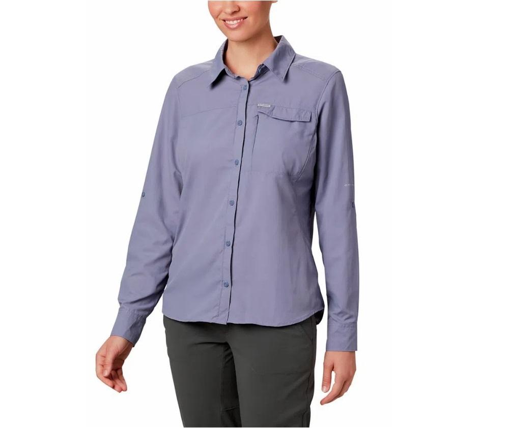 Camisa Columbia Femenins M/L Silver Ridge