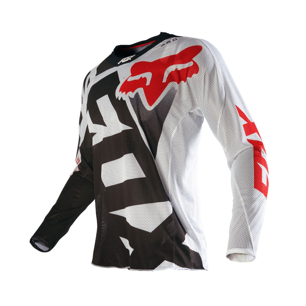 Camisa de Motocross Fox 360 SHIV Airline 16 Black/White