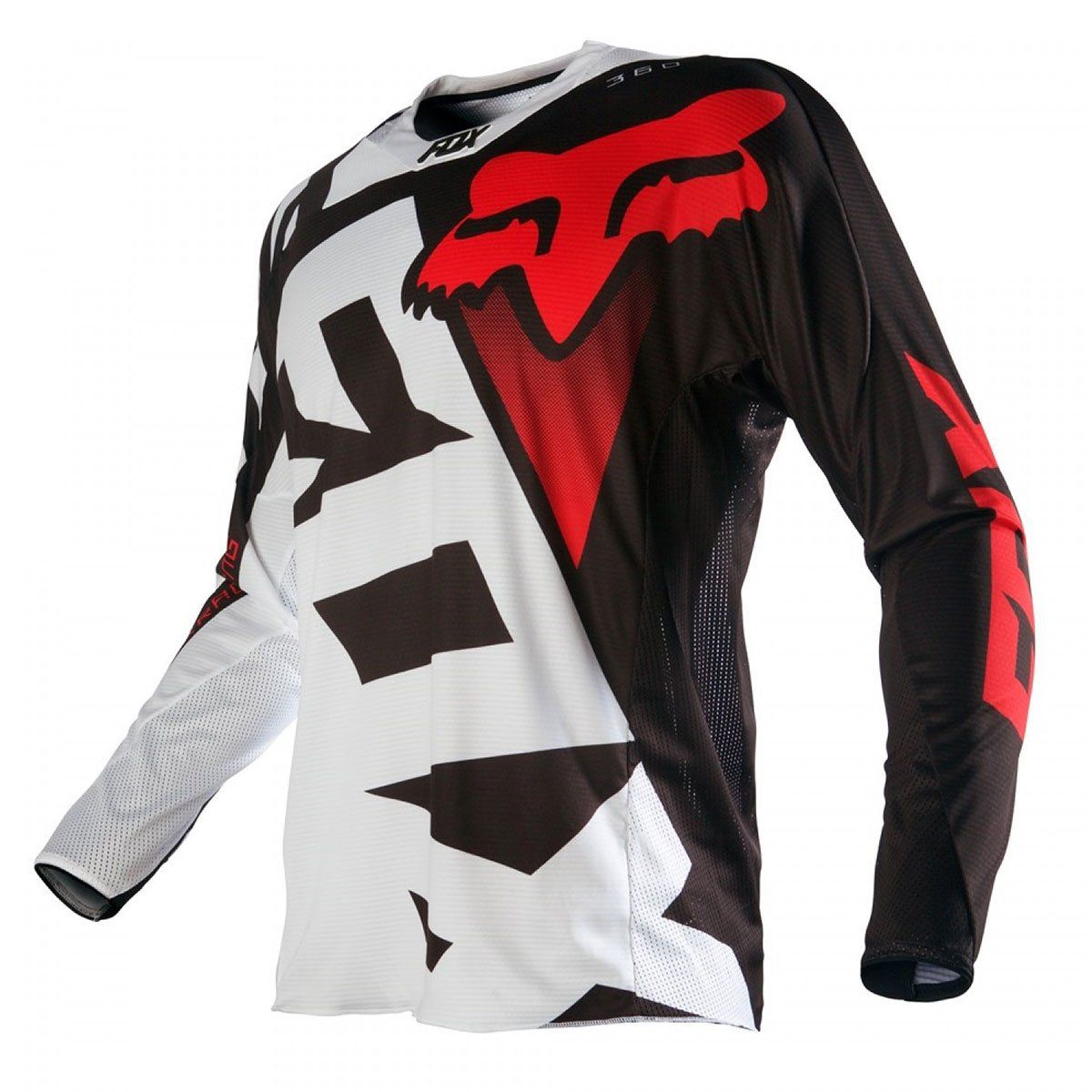 Camisa de Motocross Fox 360 SHIV  Black / White