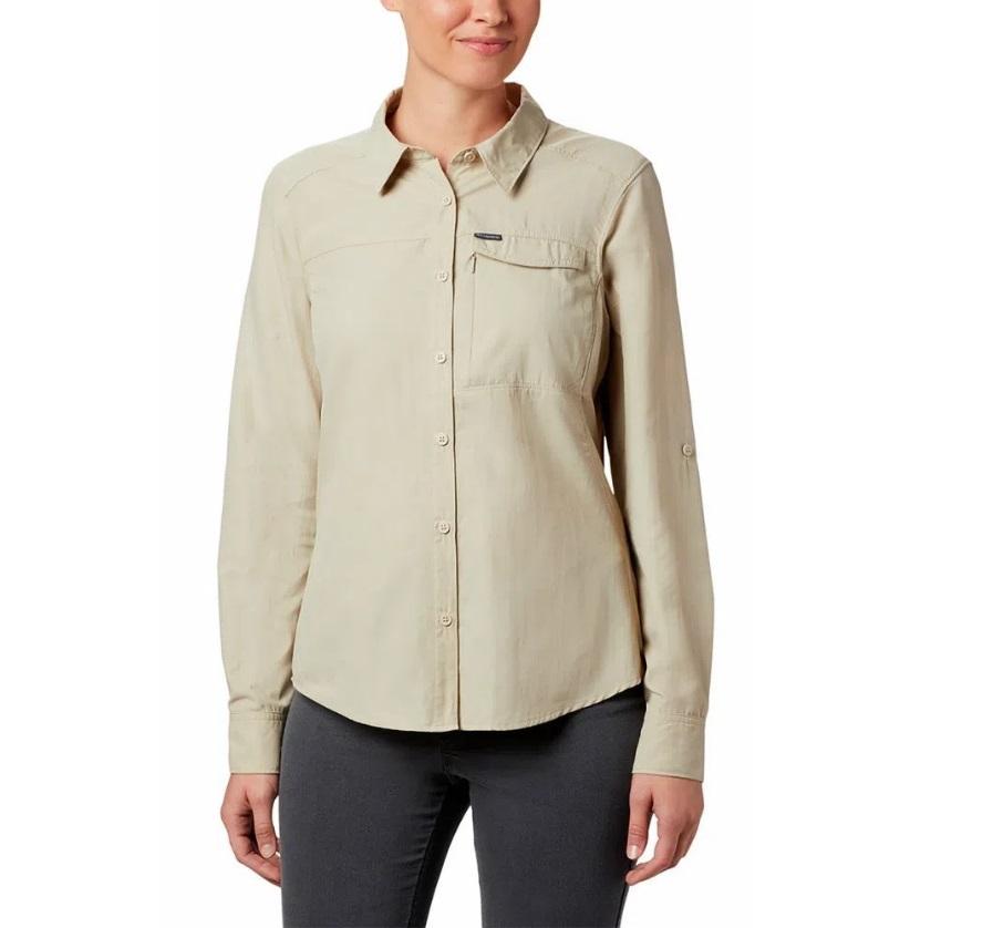 Camisa Feminina Columbia Silver Ridge 2 Long Sleeve Fossil