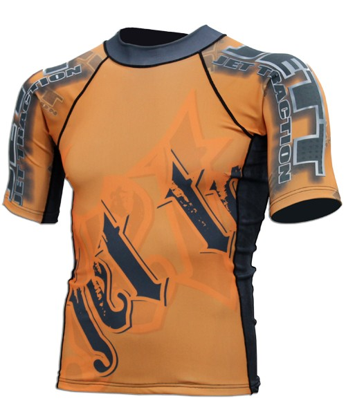 Camisa Jettraction Manga Curta Laranja