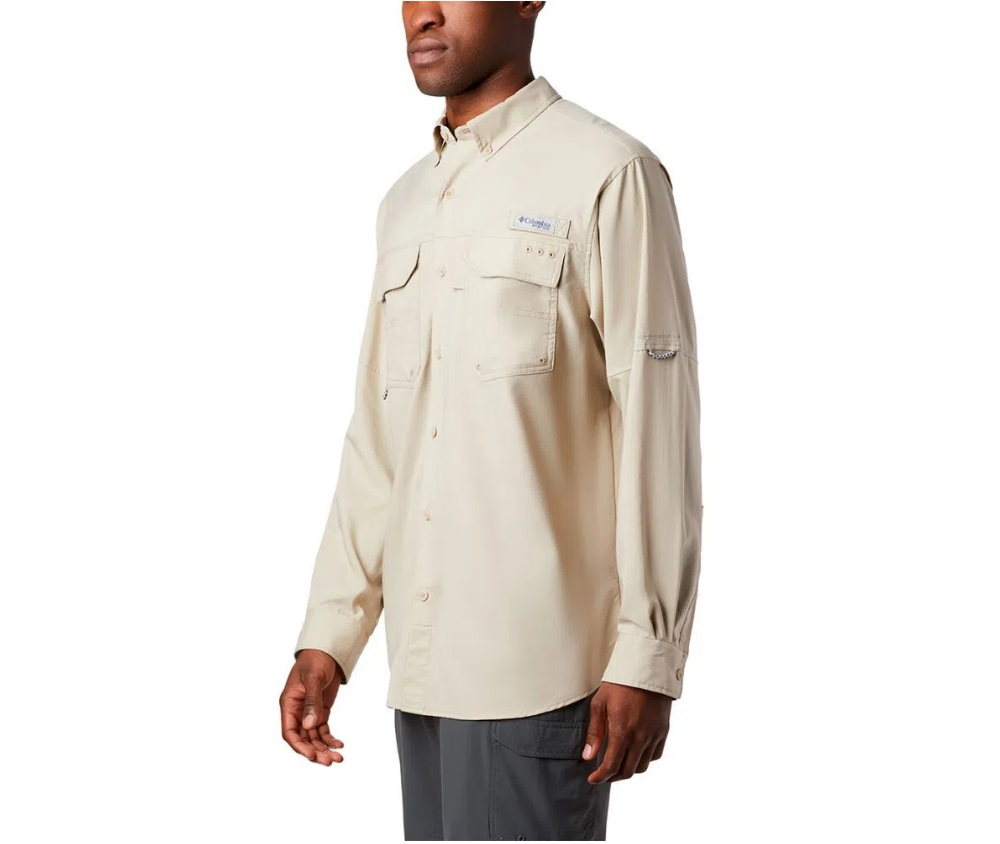 Camisa Masculina Columbia M/L Blood And Guts III LS Woven Fossil