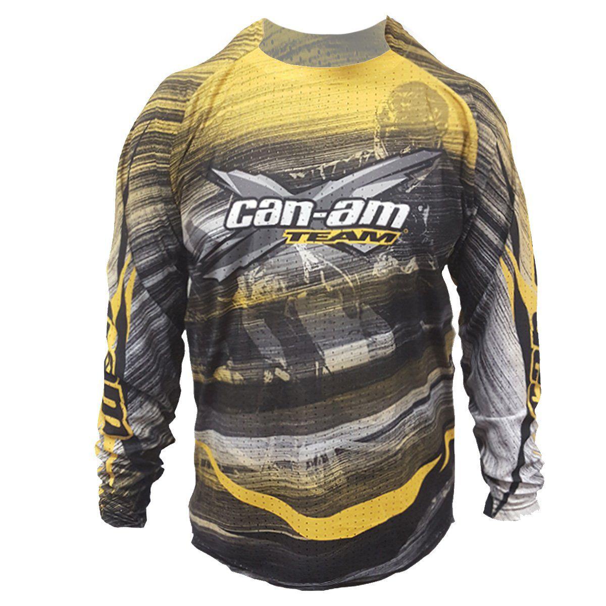 Camisa USA X-Race Can-Am Masculina Amarela