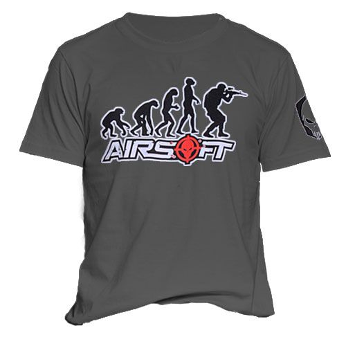 Camiseta Attack Estampada Airsoft Evolucao Preta