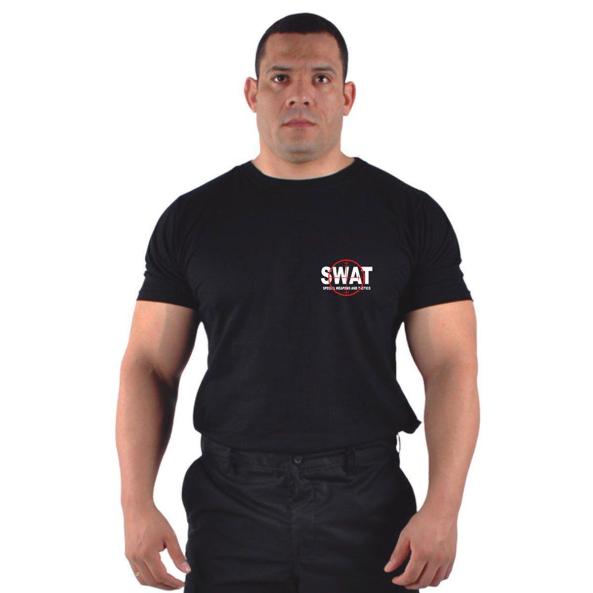 Camiseta Bordada Attack Swat Preta