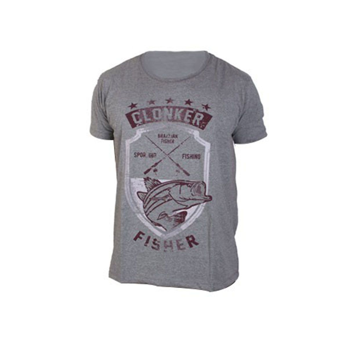 Camiseta Clonker Malha Mescla Braz. Fisher