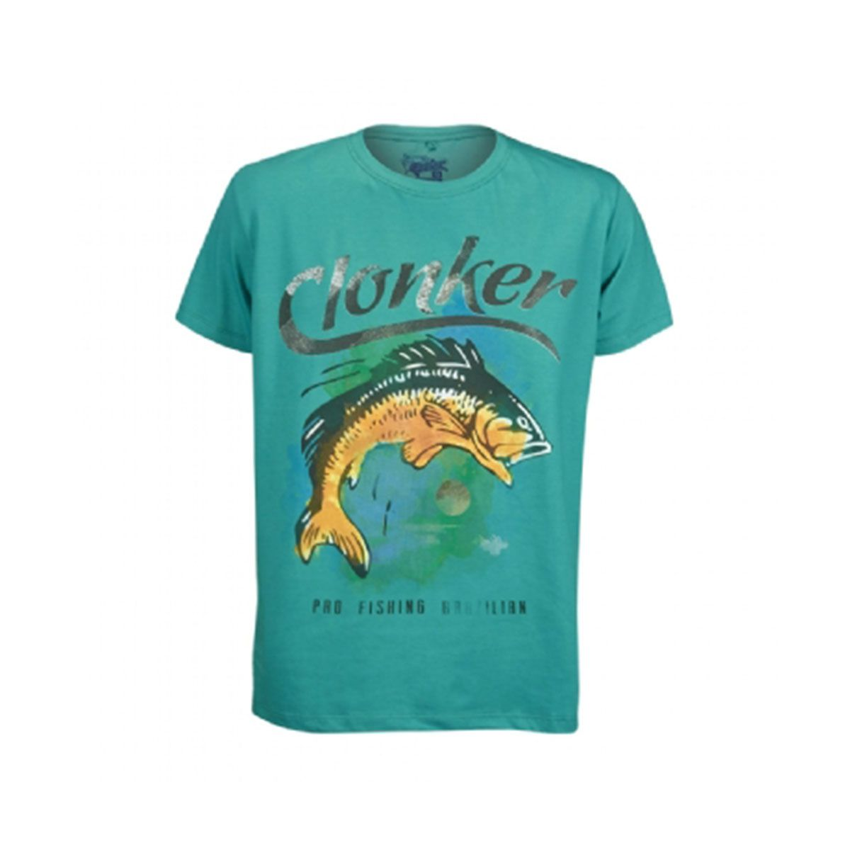Camiseta Clonker Malha Verde Aquarela