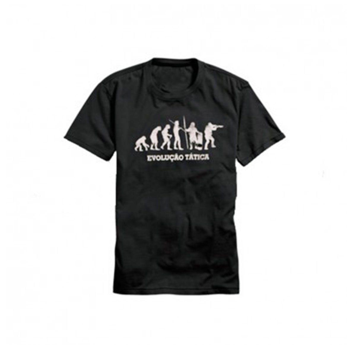 Camiseta estampada Evolucao Tatica - Malha Preto