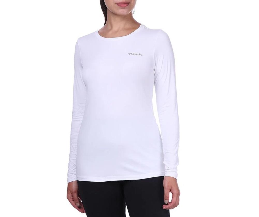 Camiseta Feminina Columbia Neblina Manga Longa - Branca