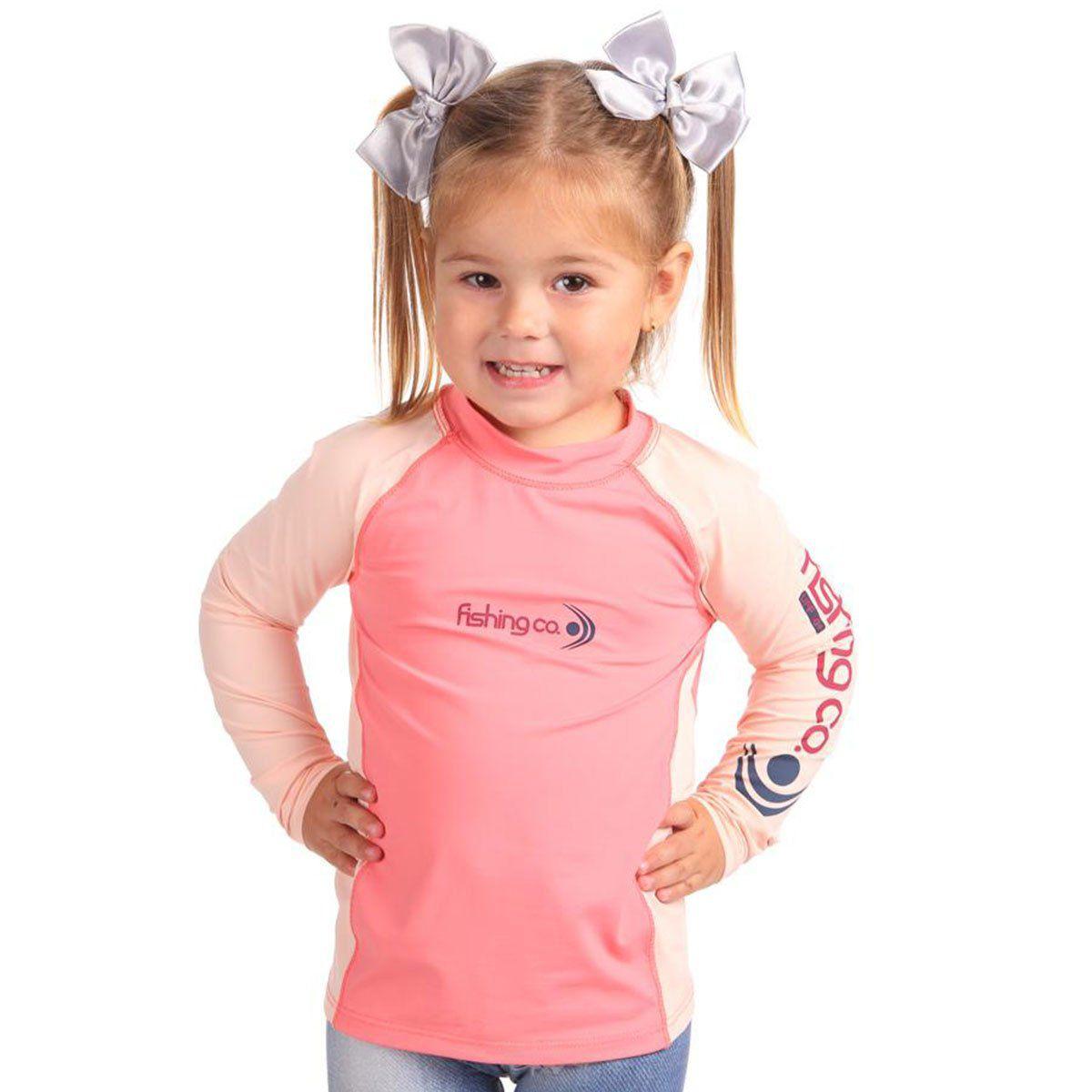 Camiseta Infantil Fishing Co Recorte Eletric e Tule