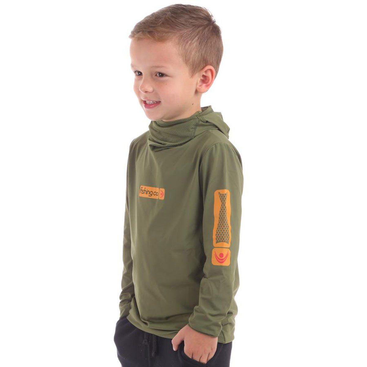 Camiseta Infantil Fishing Co Ninja Verde Militar