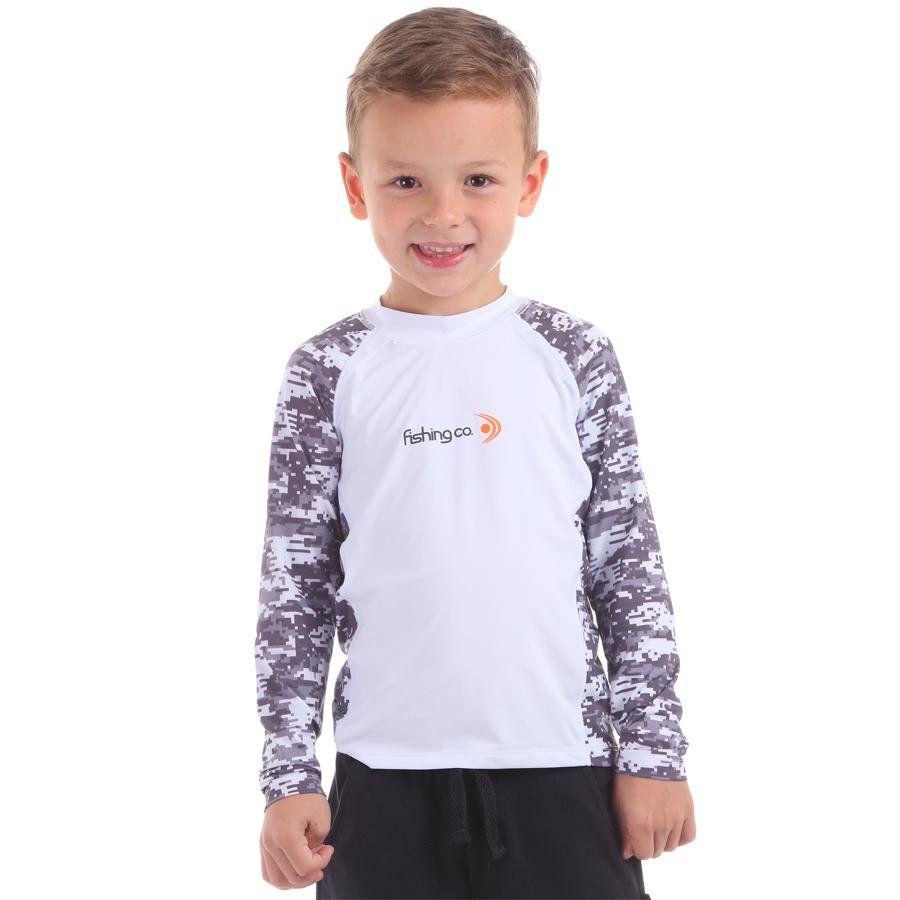 Camiseta Infantil Recorte Estampada Branco/Digital