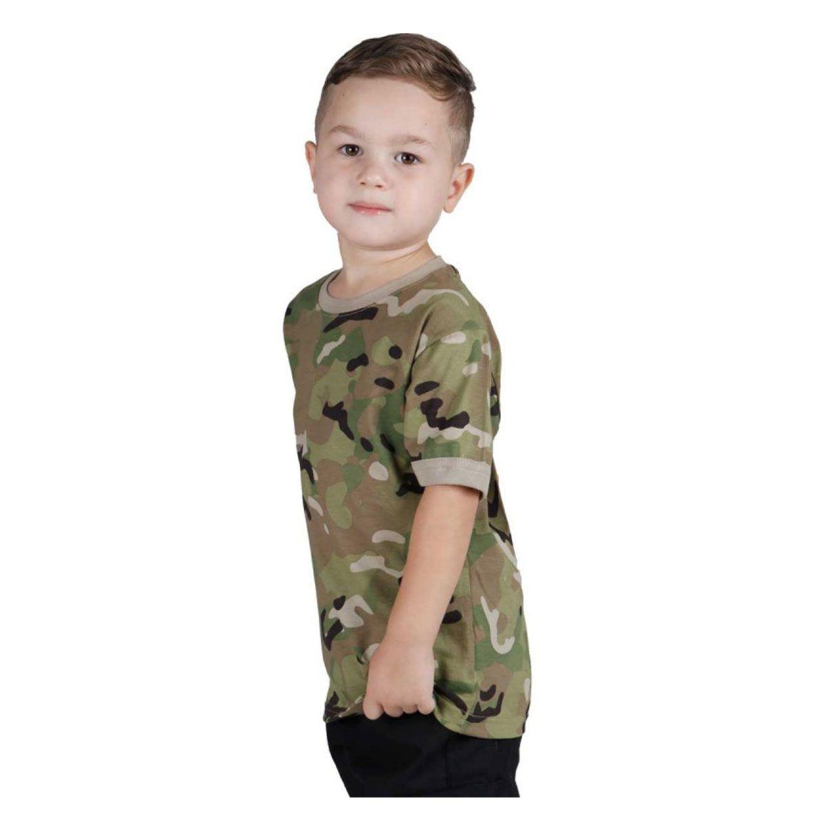 Camiseta Infantil Soldier Kids Bélica Multicam