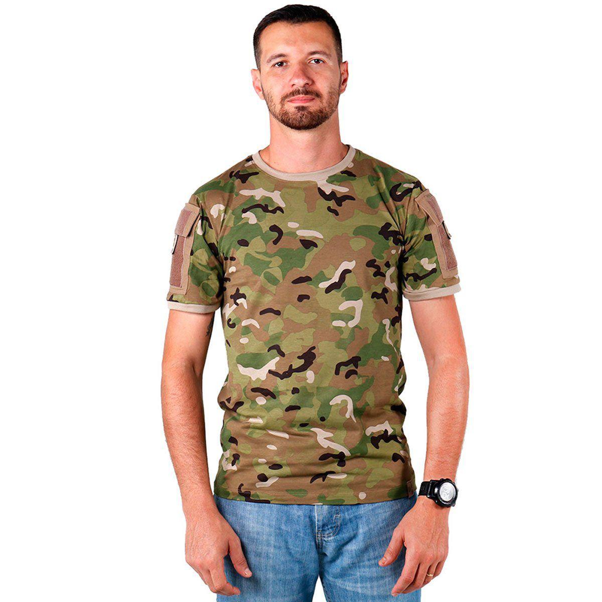 Camiseta Masculina Belica Ranger 43-Camuflado Multicam