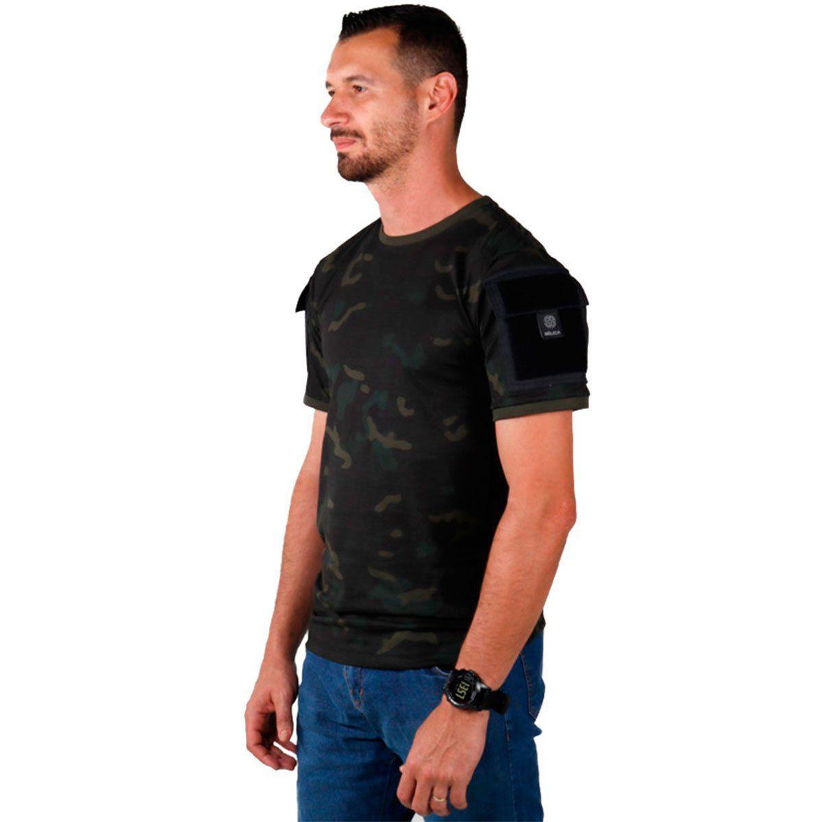 Camiseta Masculina Belica Ranger 70-Multicam Black