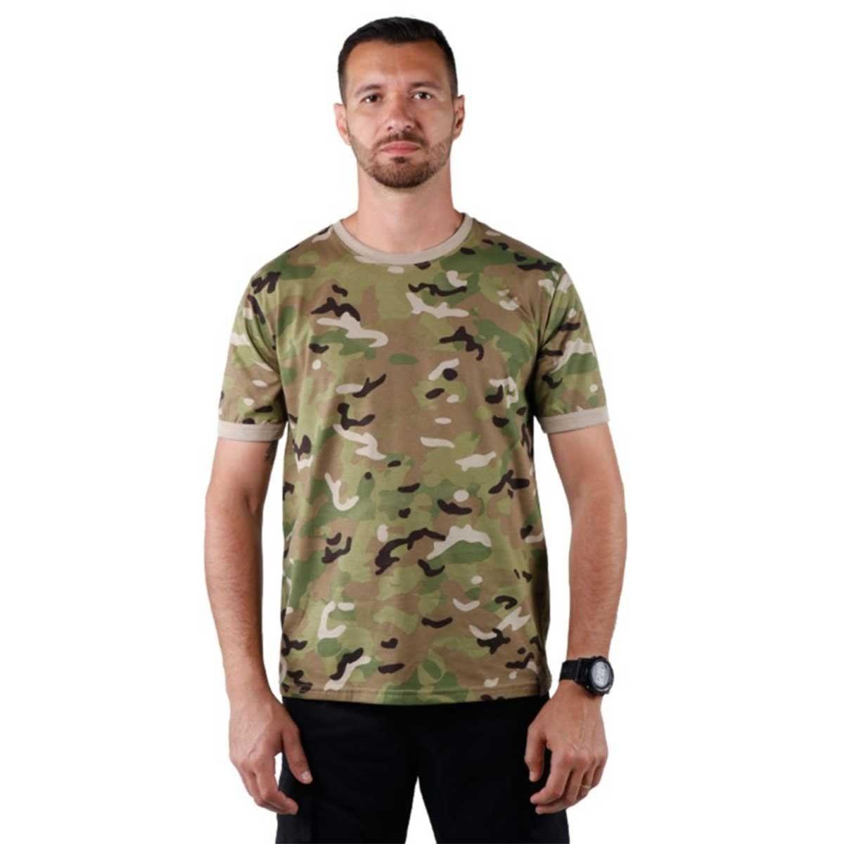 Camiseta Masculina Bélica Soldier Multicam