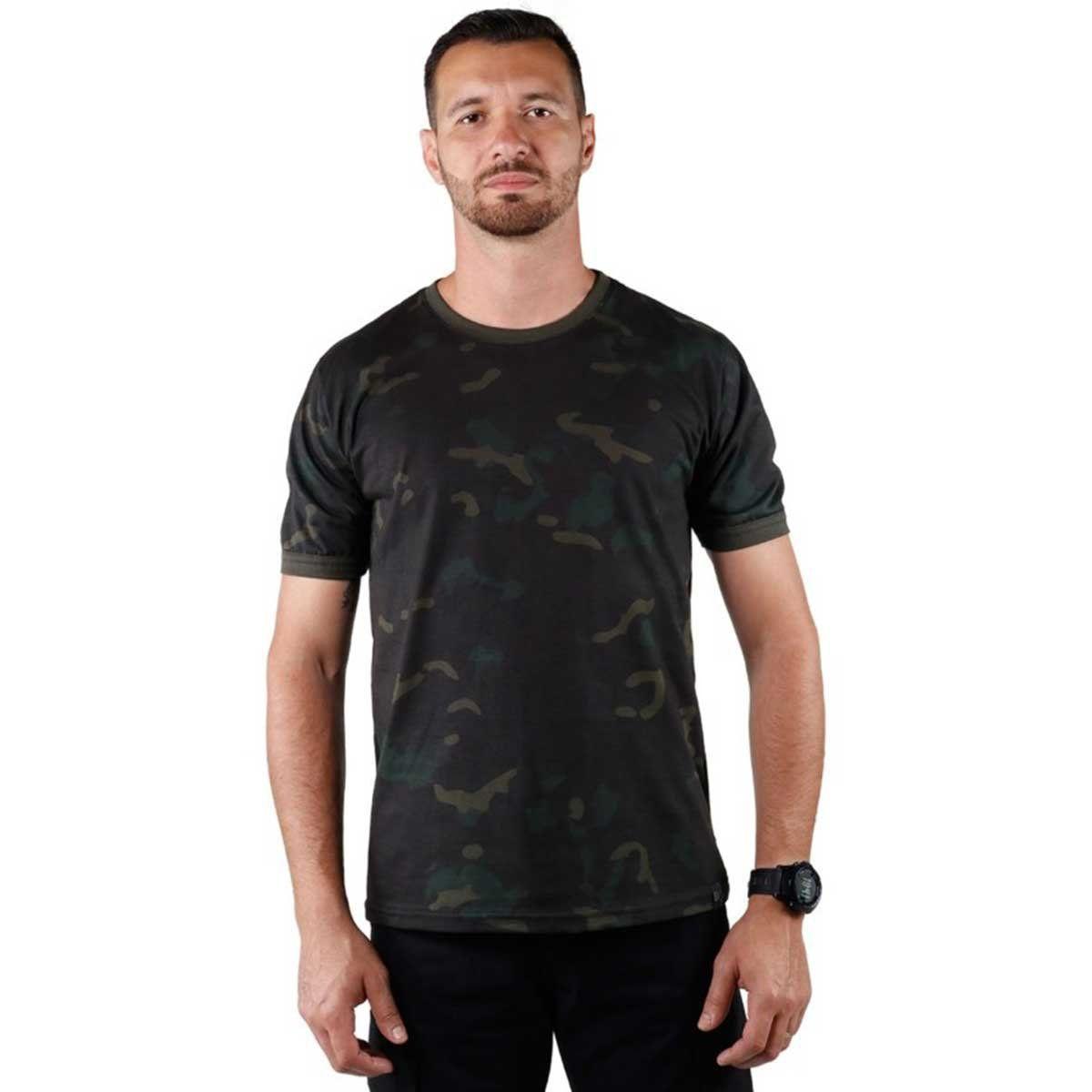 Camiseta Masculina Bélica Soldier Multicam Black