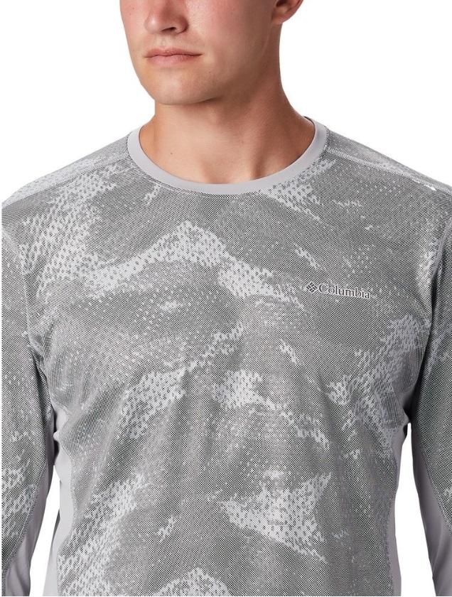 Camiseta Masculina Comlumabia Solar Chill 2.0 Manga Longa Sport Branca