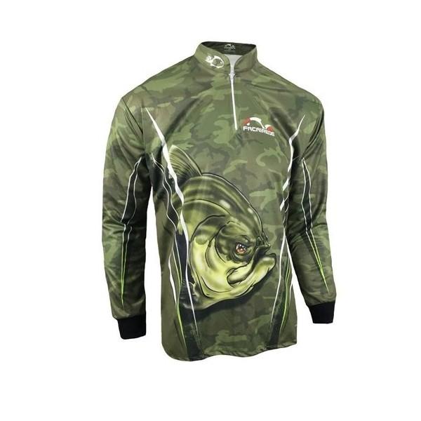 Camiseta UV Masculina Faca na Rede Combat S 20 Tambaqui