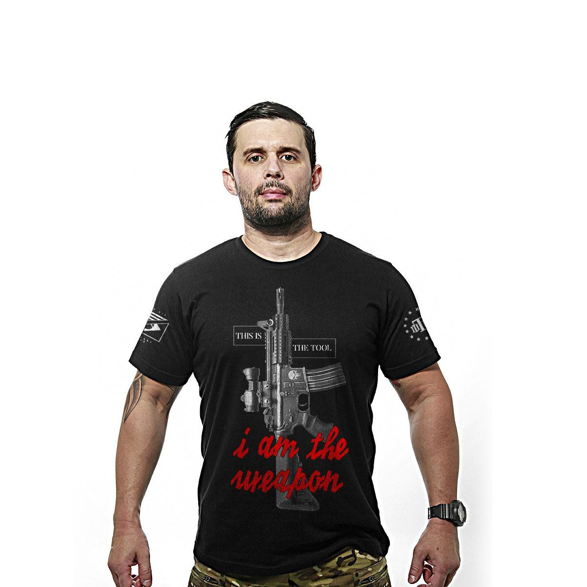 Camiseta Masculina Team Six This Is The Tool I Am The Weapon Preto