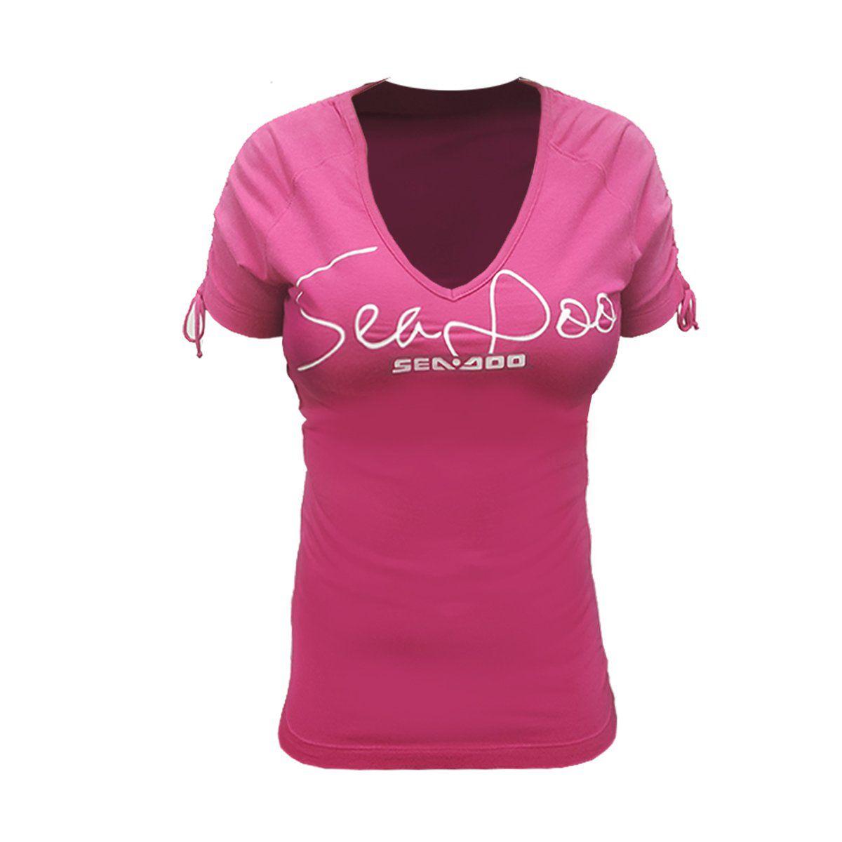 Camiseta Signature Sea-Doo Feminina Rosa