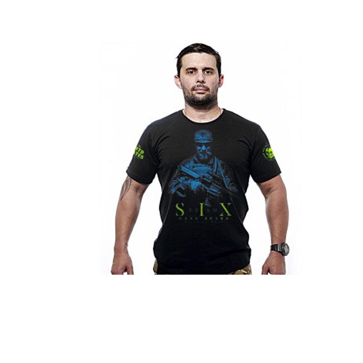 Camiseta Team Six Beard Gang Preto