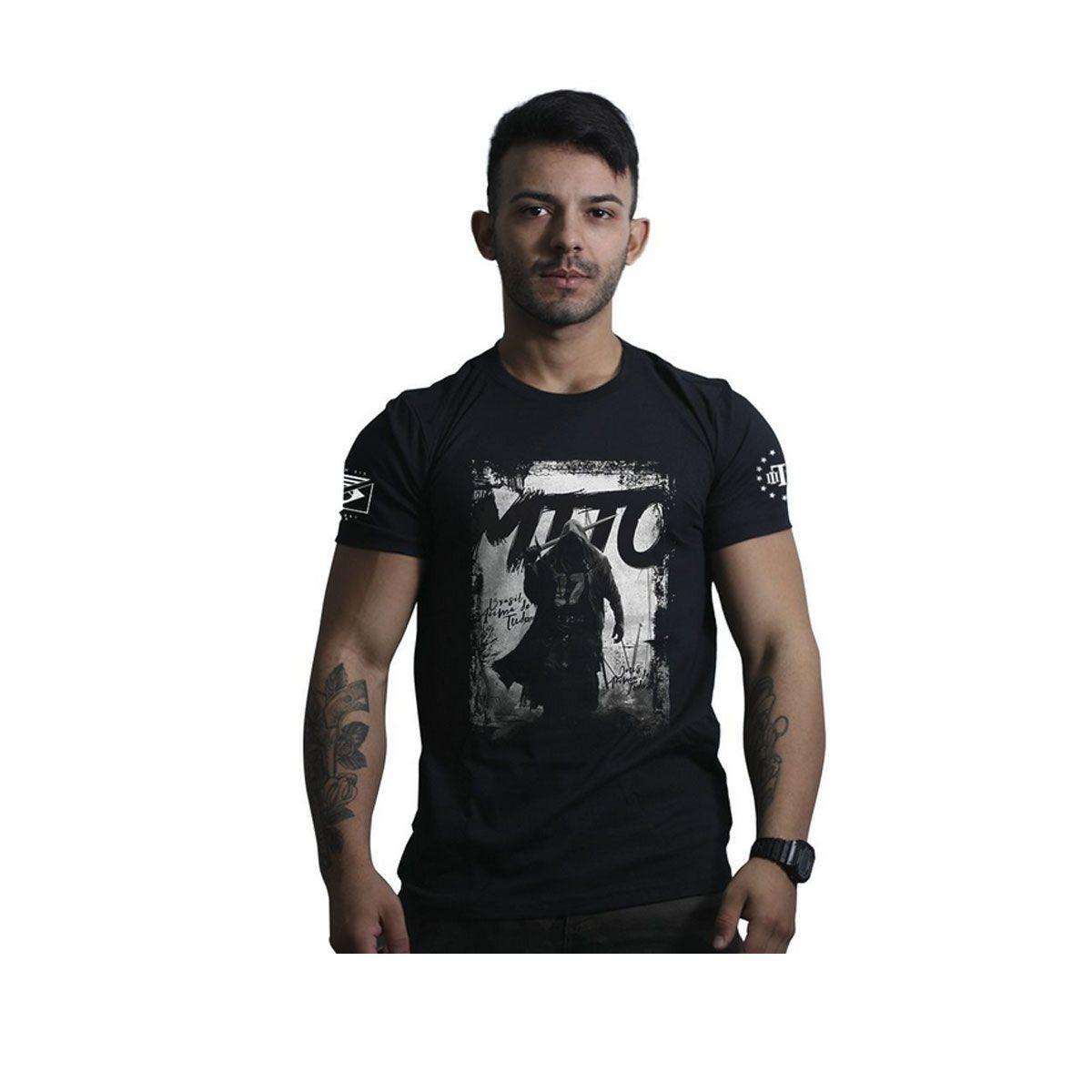 Camiseta Team Six Brasil Acima de Tudo Deus Acima de Todos Preto