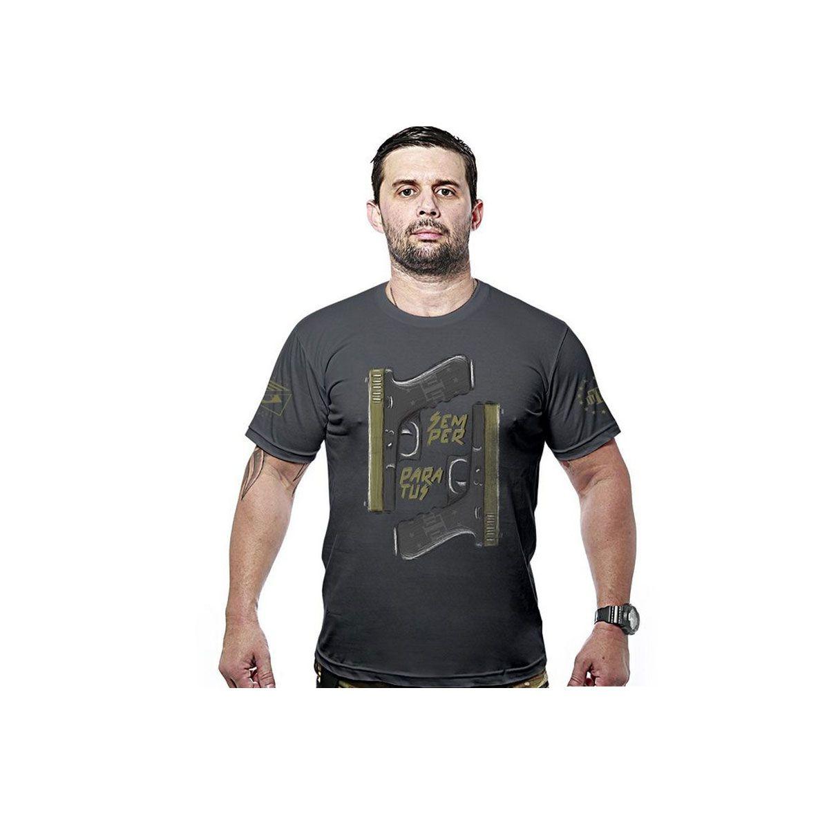 Camiseta Team Six Concept Line Glock Semper Paratus Preto
