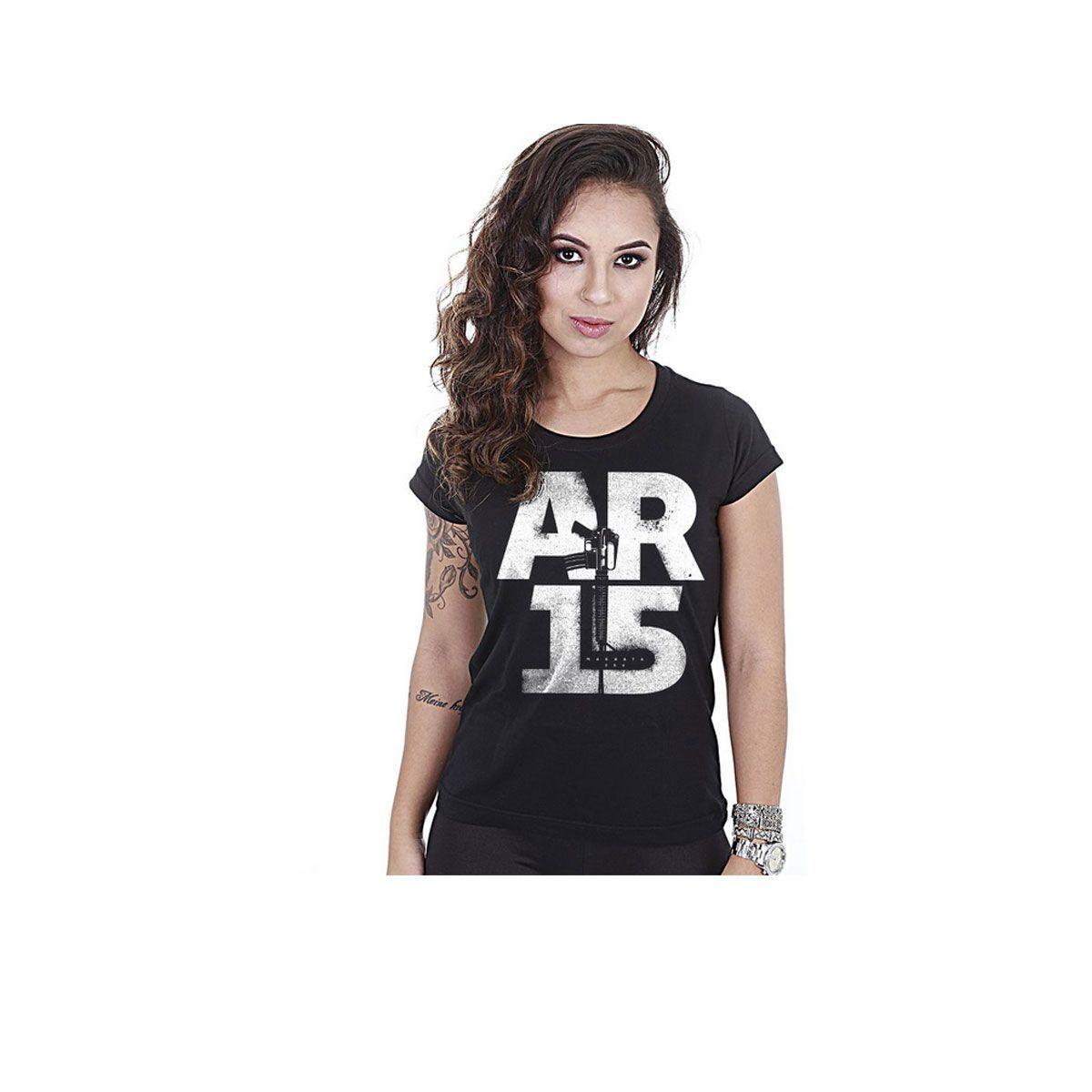 Camiseta Team Six Feminina Baby Look Squad T6 Magnata AR15