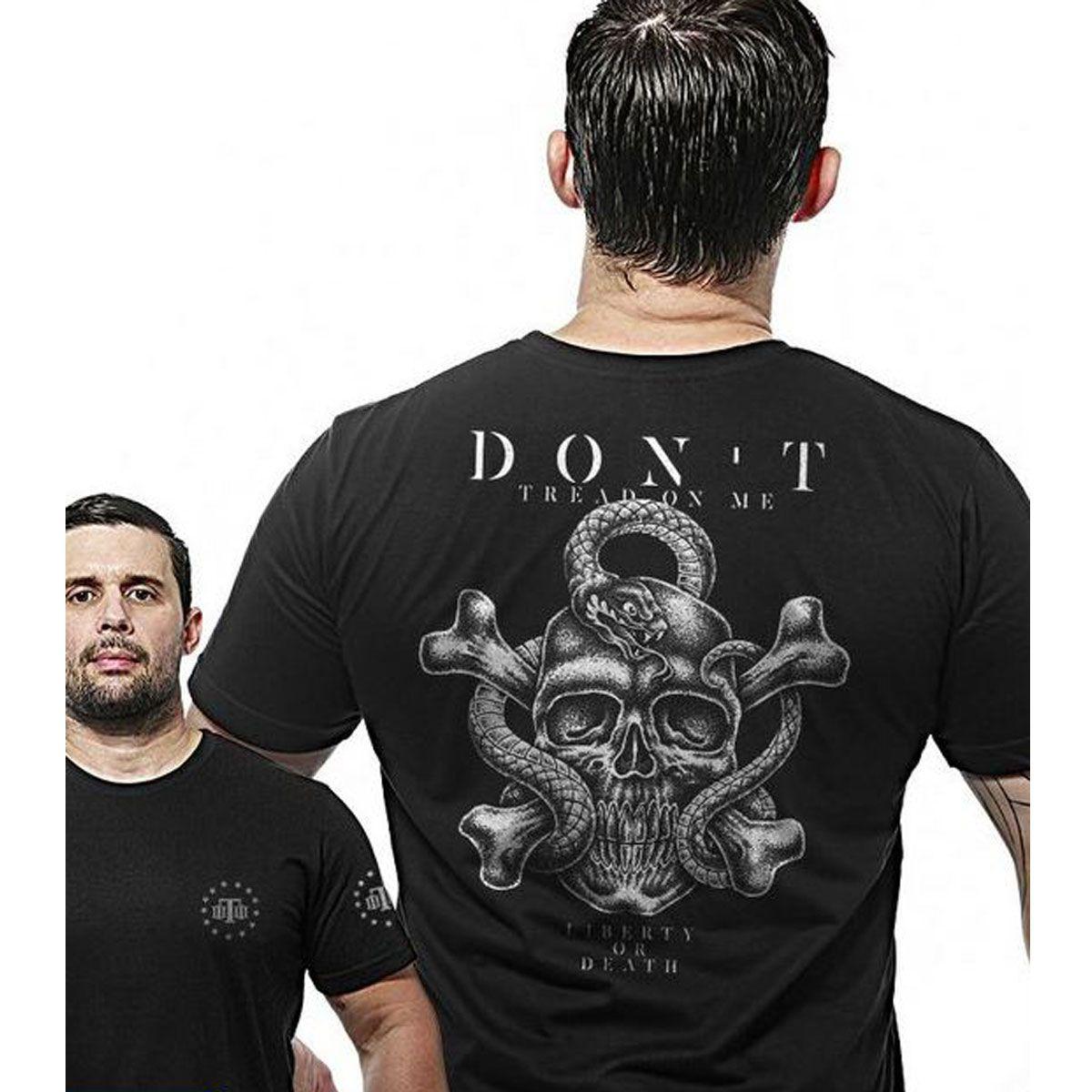 Camiseta Team Six Militar Wide Back Dont Tread On Me Preto