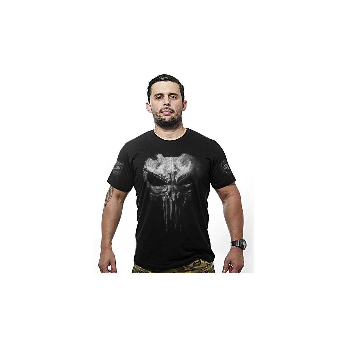 Camiseta Team Six Punisher Plate Preto