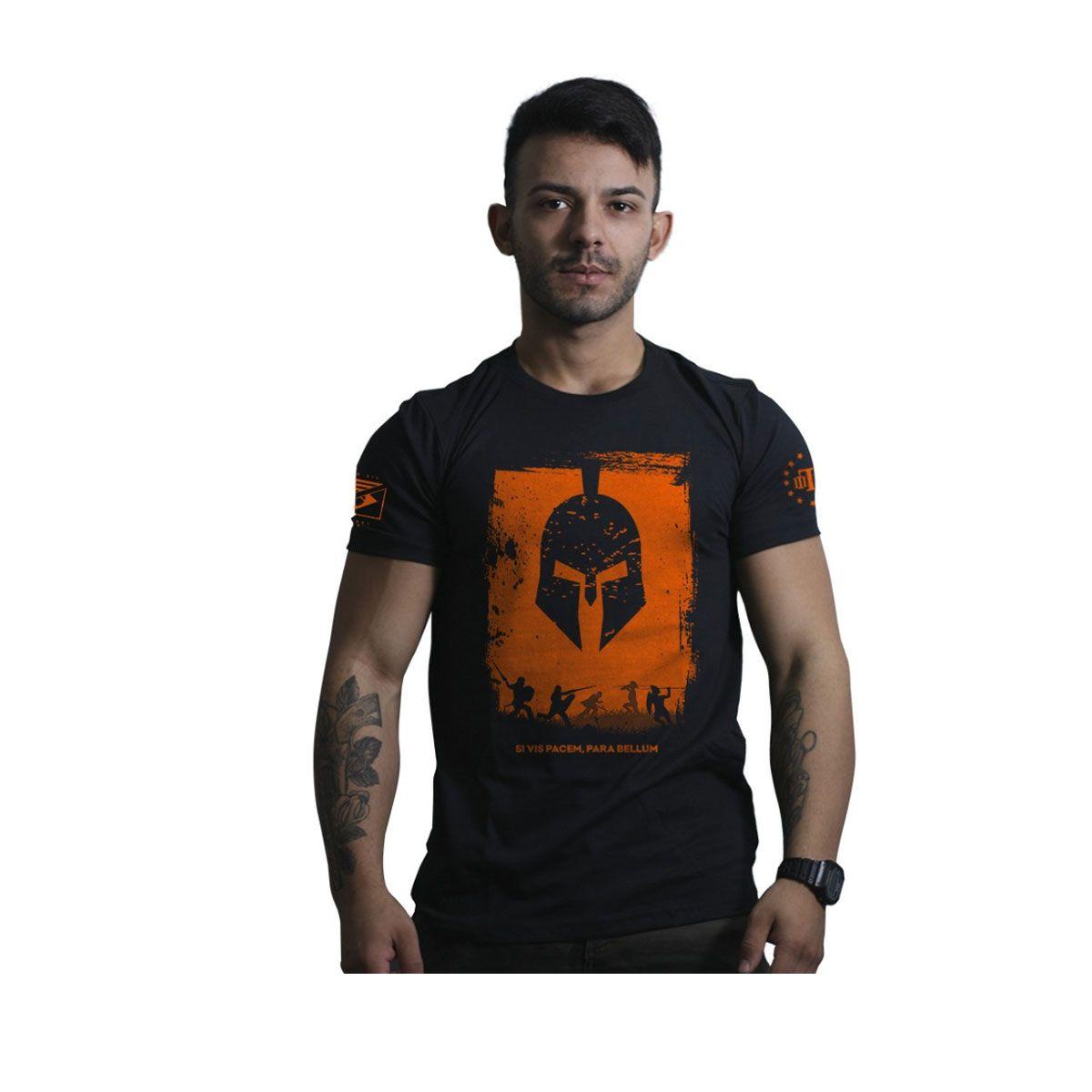 Camiseta Team Six Si Vis Pacem Para Bellum Preto
