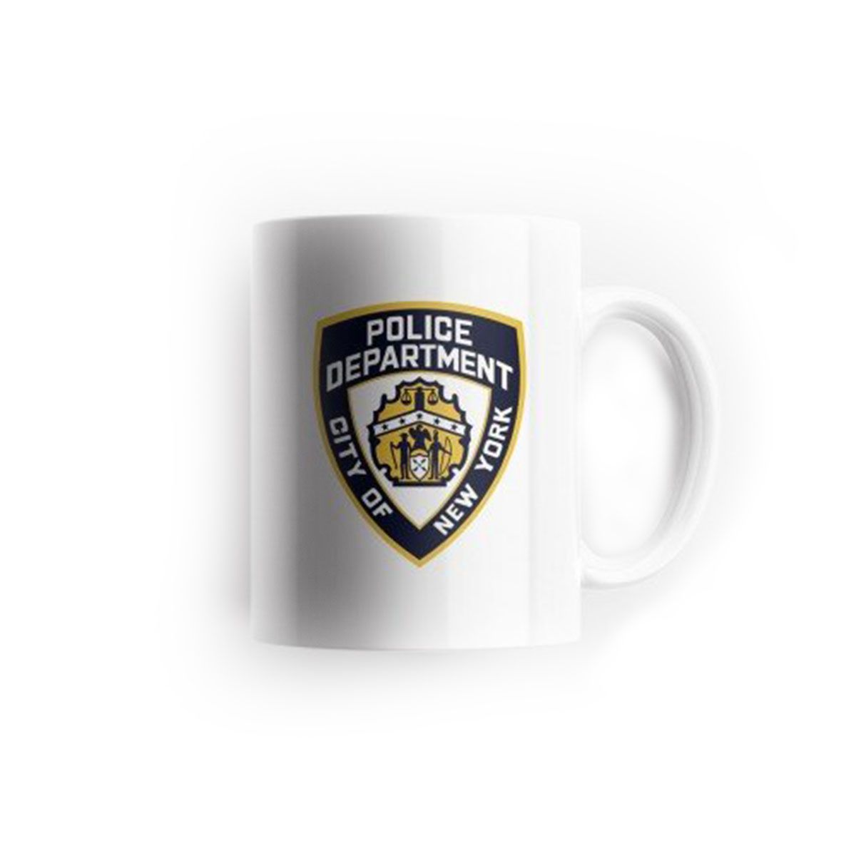Caneca Kipfer NYPD Branca 325 ML