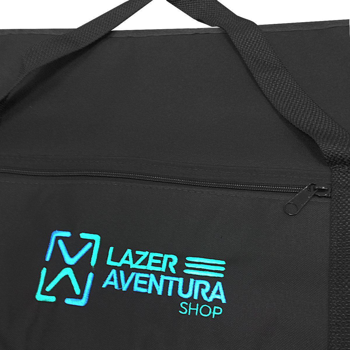Capa Porta Carabina em Nylon Preto 1,30m Lazer e Aventura
