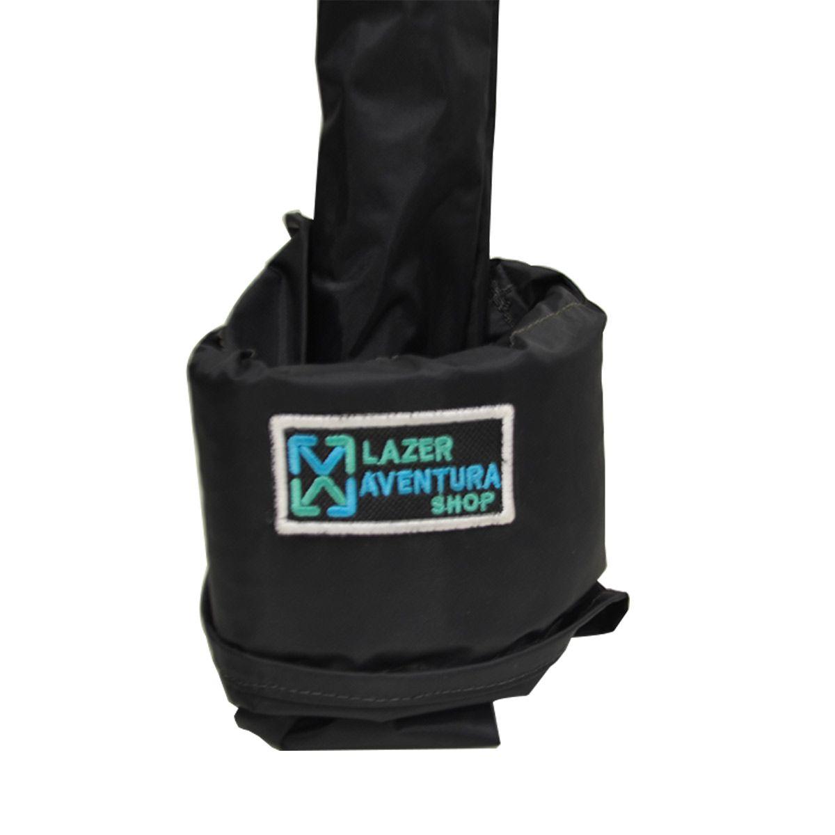 Capa p/ Vara individual Flutuante com protecao p/ carretilha Lazer e Aventura