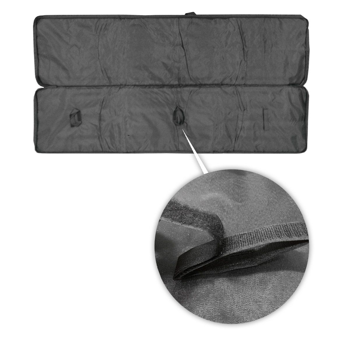 Capa Porta Carabina em Nylon Preto 1,10m Lazer e Aventura