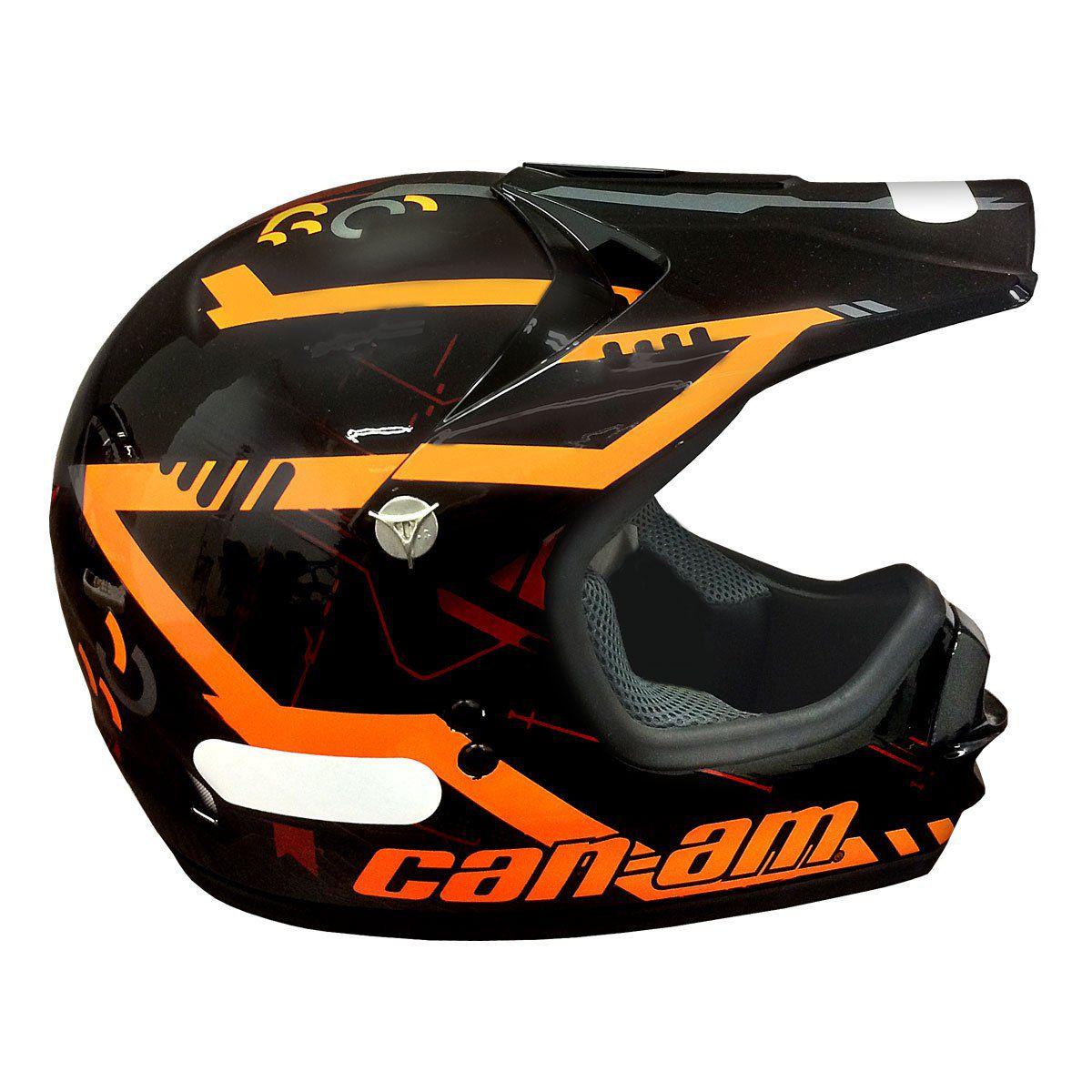 Capacete Can-An X1 Preto/Laranja