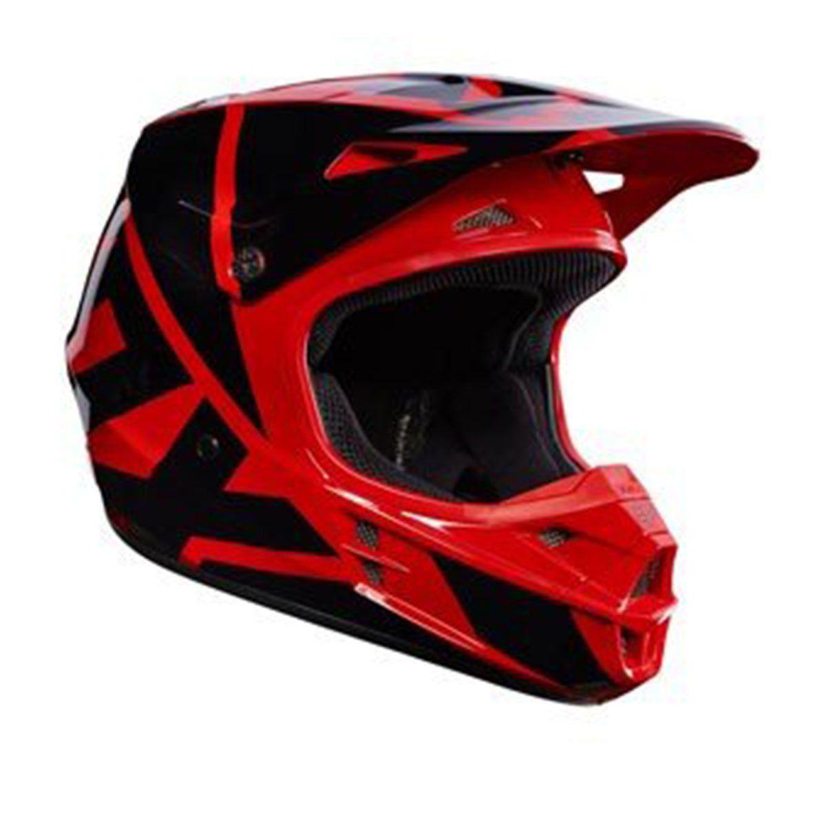Capacete de Motocross Fox V1 Race Red