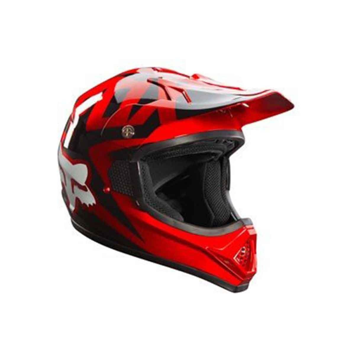 Capacete de Motocross Fox VF1 Solid Red