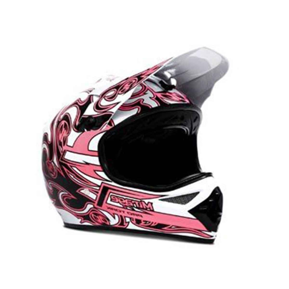 Capacete para Motocross Protork Mirage Rosa