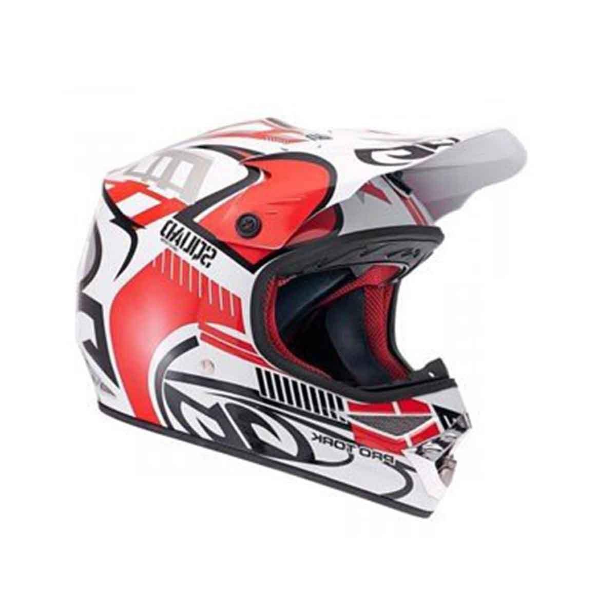 Capacete para Motocross Protork Squad Vermelho