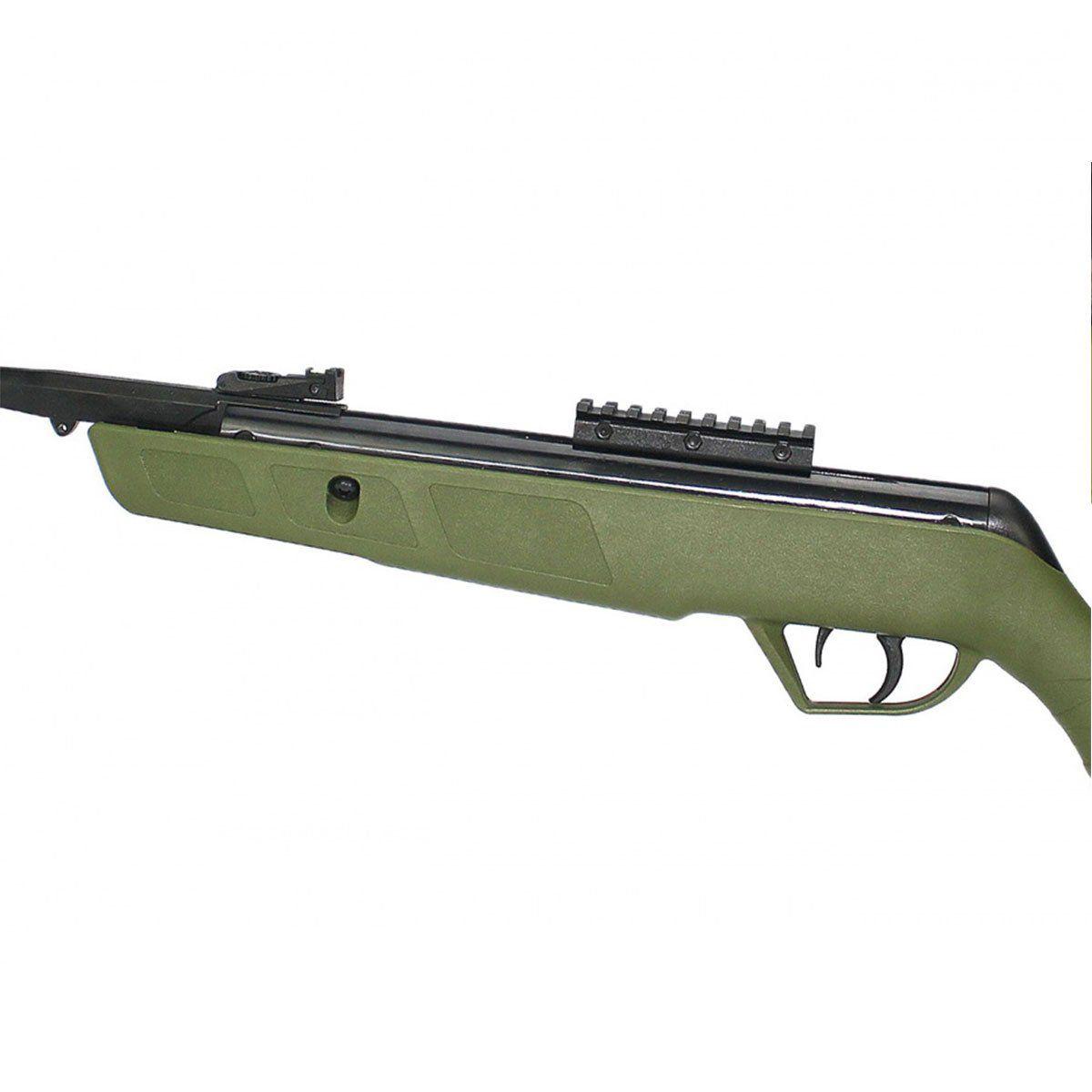 Carabina de Pressão CBC Jade Mais Oxidada PP Verde 5,5mm